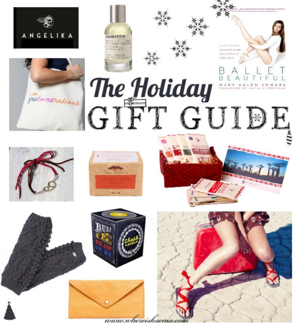 Gift guide for the yoga girl, ethical fashion girl, ballet girl