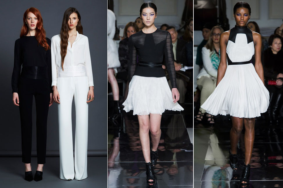 Black and White Trend NYFW Fall 2013