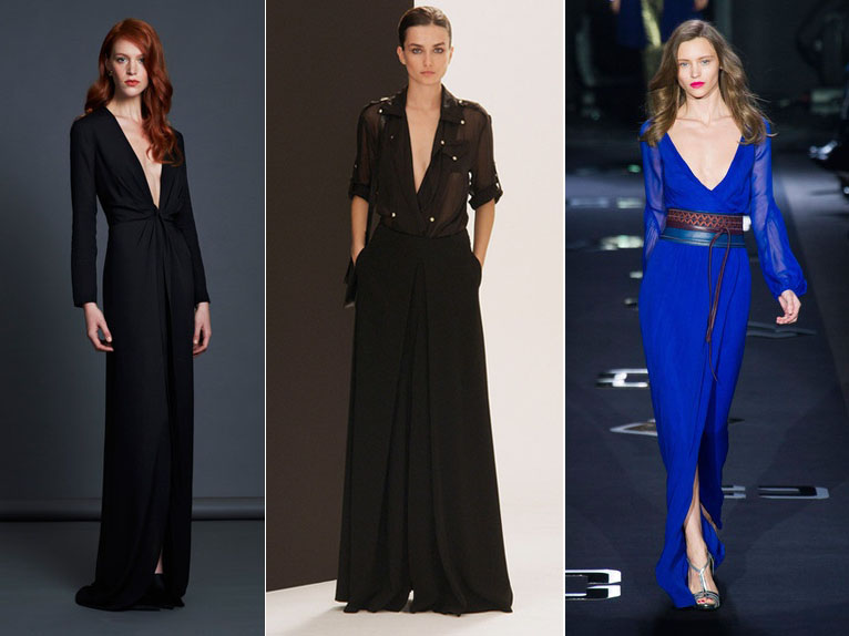 Plunging V-Neck Trend NYFW Fall 2013