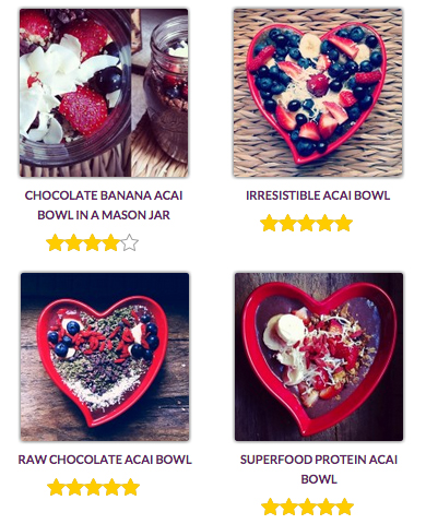 My acai bowl recipes on Sambazon.com